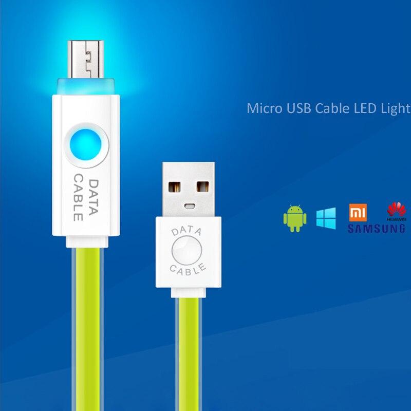 BTOD Micro Usb kabel Farbe TPE LED Licht Sync Daten Für Samsung Sony ...