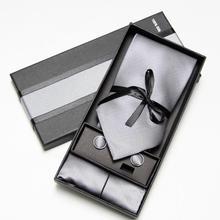 Fashion Wide Tie Sets Mens Neck Hankerchiefs Cufflinks 10 colours Box gift polyester handmade
