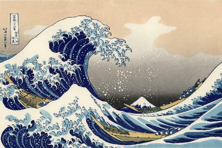Japanischen Die Große Welle weg von Kanagawa DIY rahmen kunst poster ...
