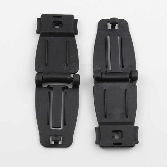 5 pcs 플라스틱 하드웨어 웨빙 연결 클립 molle 전술 배낭 스트랩 버클 야외 캠핑 하이킹 여행 키트