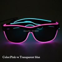 2017 Новый стиль двойной цвет проволочные солнцезащитные очки с черным объективом неоновая Светодиодная лента трубка 50 шт. оптовая продажа о
