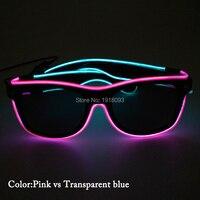 2019 новые стильные двухцветные проволочные солнцезащитные очки с черными линзами неоновая Светодиодная лента трубка 50 шт. оптовая продажа о