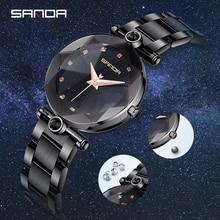 Sanda new net red star watch fashion trend waterproof woman watch new concept steel belt quartz watch Relogio Feminino Clock цена