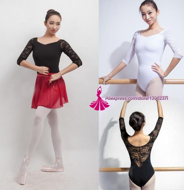 650c86a2f Ballet Leotard For Women Pure Cotton Black Ballet Dancingwear Adult ...