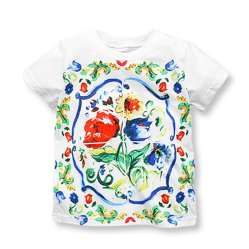 Sommer T-Shirt Baby Mädchen Kleidung Mode Kinder T-Shirts für - Kinderkleidung - Foto 1
