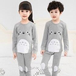 Winter Children Clothes Kids Clothing Set Boys Pajamas Sets Totoro Styling Nightwear Print Pajamas Girls Sleepwear Baby Pyjama