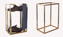 4pcs High quality shoes display stand Stainess steel tie bags holder rack fashion Clothing Accessory  windows prop