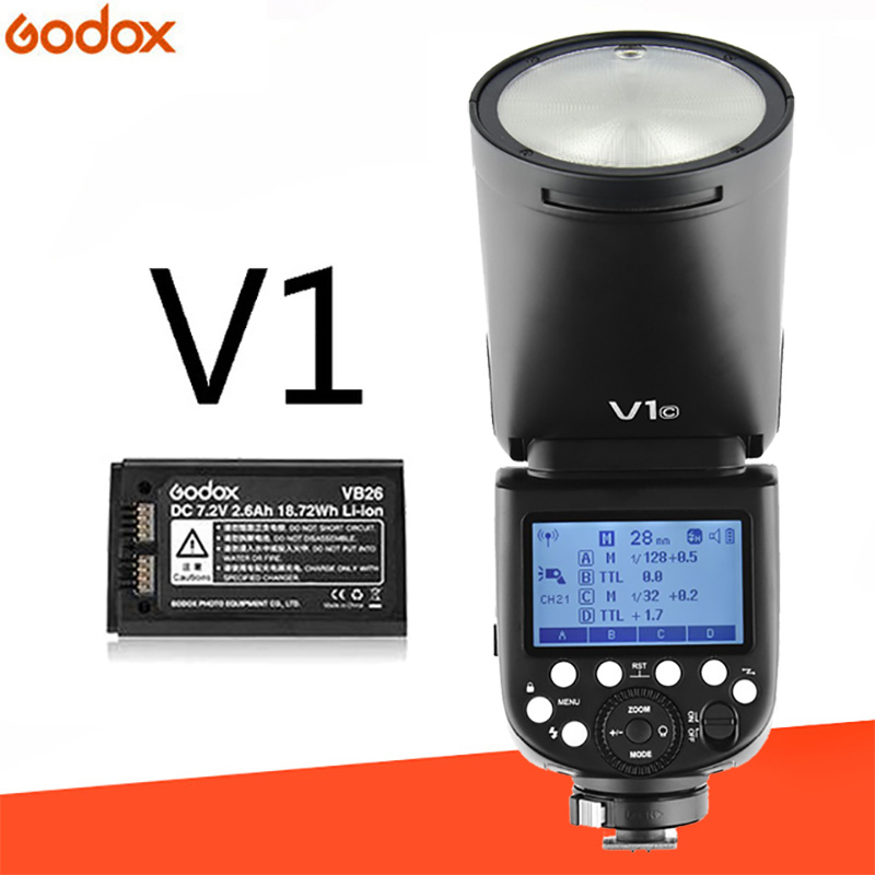 Вспышка Godox V1 V1C V1N V1S V1F V1O TTL 1/8000s HSS 2600mAh литиевая батарея Speedlite вспышка для Canon Nikon Sony Fujifilm Olympus
