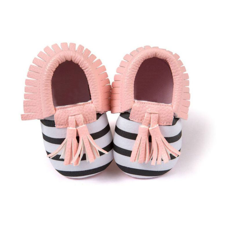Baby Shoes Baby Soft PU Leather Tassel Moccasins Girls Bow Moccs Moccasin Bow Design First Walkers 2017