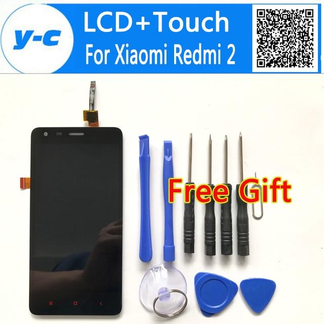 Для Xiaomi Redmi 2 ЖК-Дисплей + Сенсорная Панель Экрана Дигитайзер + Инструменты Замена Ассамблея Экран Для Xiaomi Hongmi 2 Red Rice 2