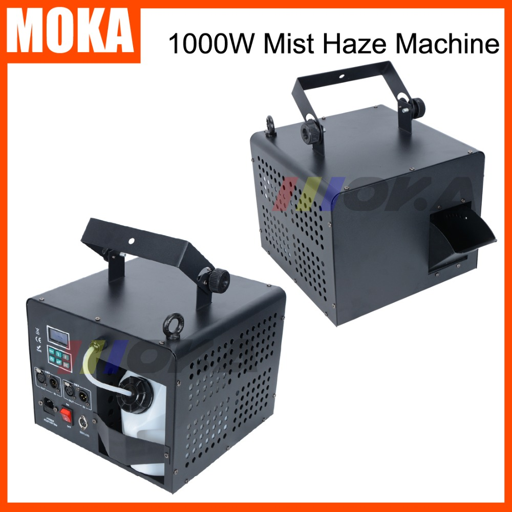 2 Pcs 1000w Mist Haze Machine stage smoke fog machine DMX forest hazer machine equipment fogger haze machine remote control