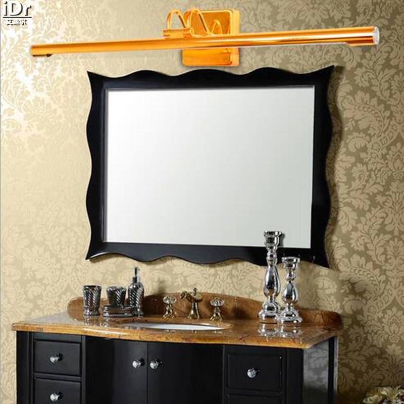 europeo moderno bagno oro wc luce specchio americano hotel lampada da parete mediterraneo retro video lampade