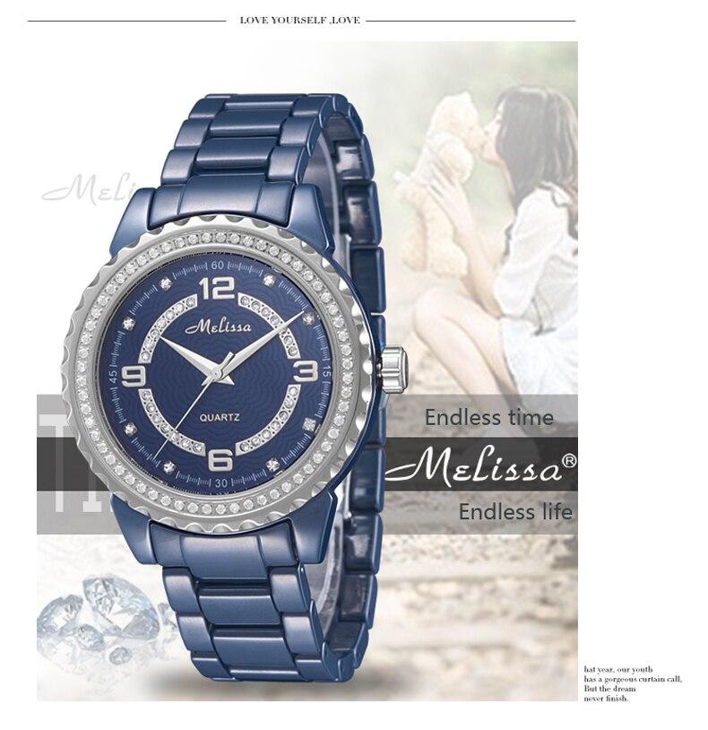 Модные влюбленные синий керамика часы элегантные модные для мужчин для женщин браслет наручные часы кристаллы кварцевые Relogios Montre Femme F8147