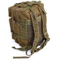 JHD 34L Tactical Assault Pack Backpack Army Molle Waterproof Bug Out Bag Small Rucksack for Outdoor Hiking Camping Hunting(Kha