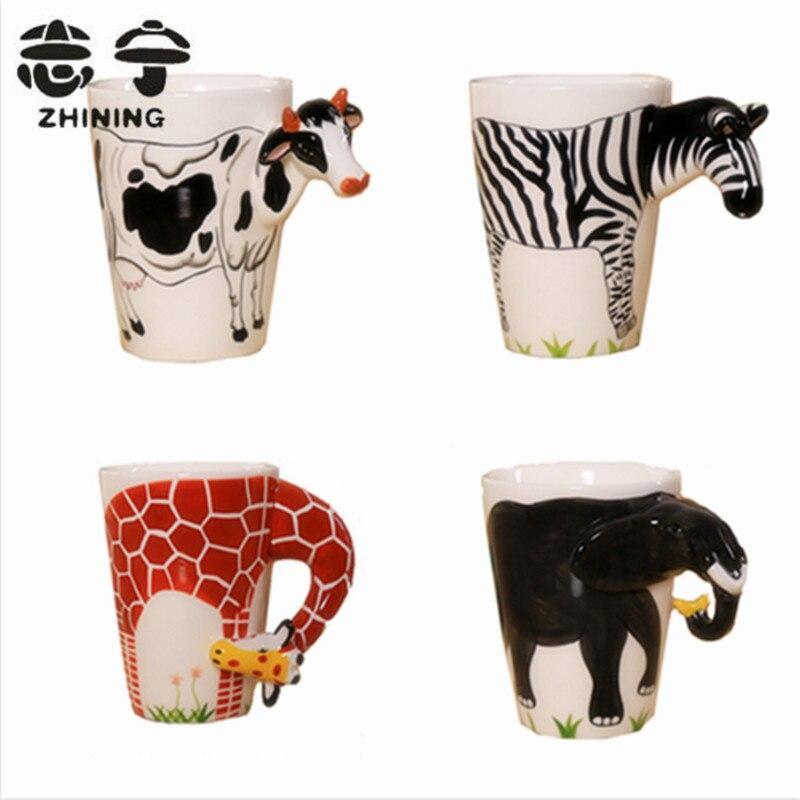 ①Creativo más nuevo tazas 3D forma animal lindo tazas de café de ...