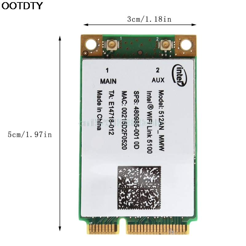 For Link Intel 5100 WIFI 512AN_MMW 300M Mini PCI-E Wireless WLAN Card 2.4/5GHz #L059# new hot 6