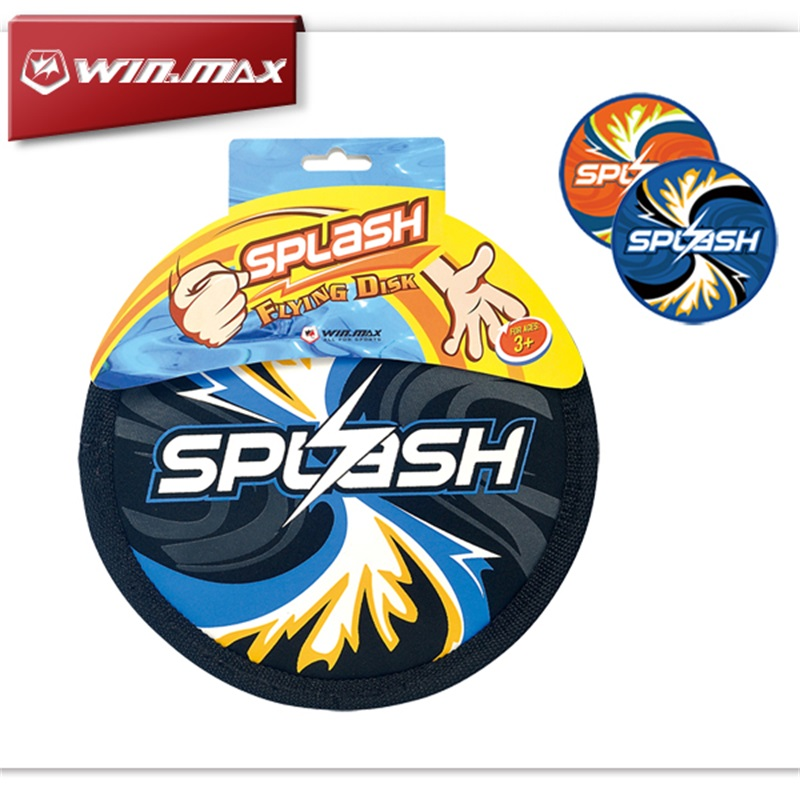 WINMAX 2016 Beach font b Entertainment b font Series Splash Neoprene Flying Disk for Beach Frisbee