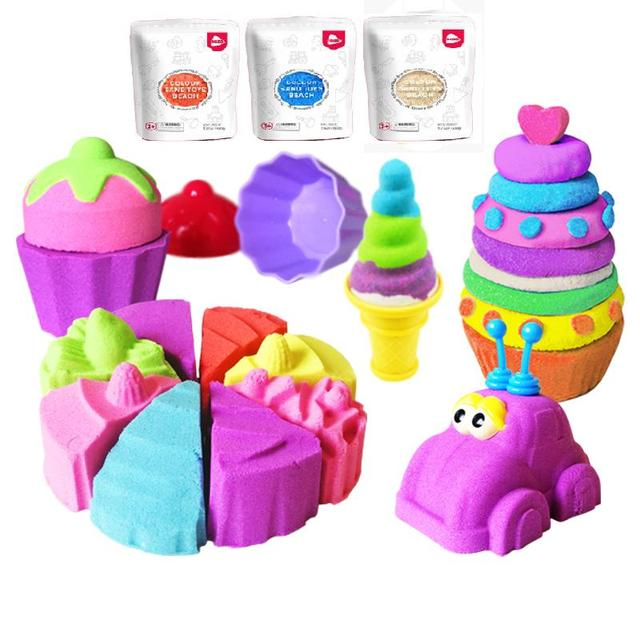 Soft Color Clay Sand Toys Beach Modeling Clay Sand Play Kids Light