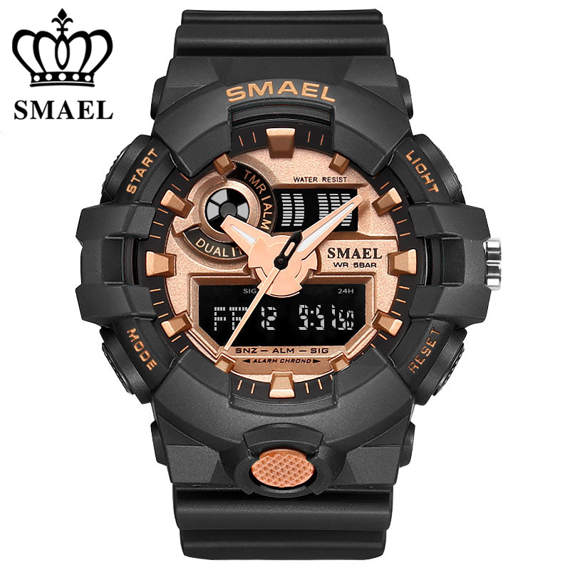 G700 Mens Watches LCD Reloj Digital New Dual Display Watches Military Police Chronograph 50ATM sports Watch Male Clock For Man