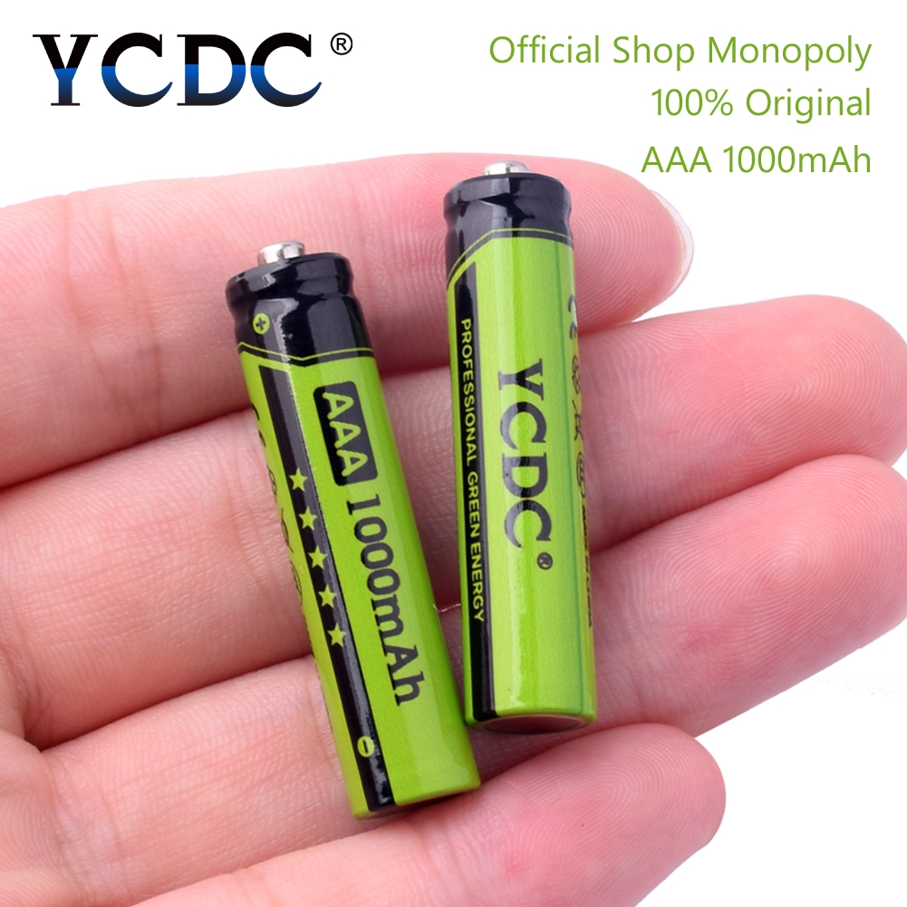 все цены на YCDC Original 4-20Pcs/Lot NI-MH AAA 3A Rechargeable Batteries 1.2V 1000mAh for Toy Mouse Battery With Battery Box онлайн