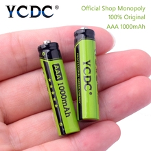 YCDC Original 4-20Pcs/Lot NI-MH AAA 3A Rechargeable Batteries 1.2V 1000mAh for Toy Mouse Battery With Battery Box