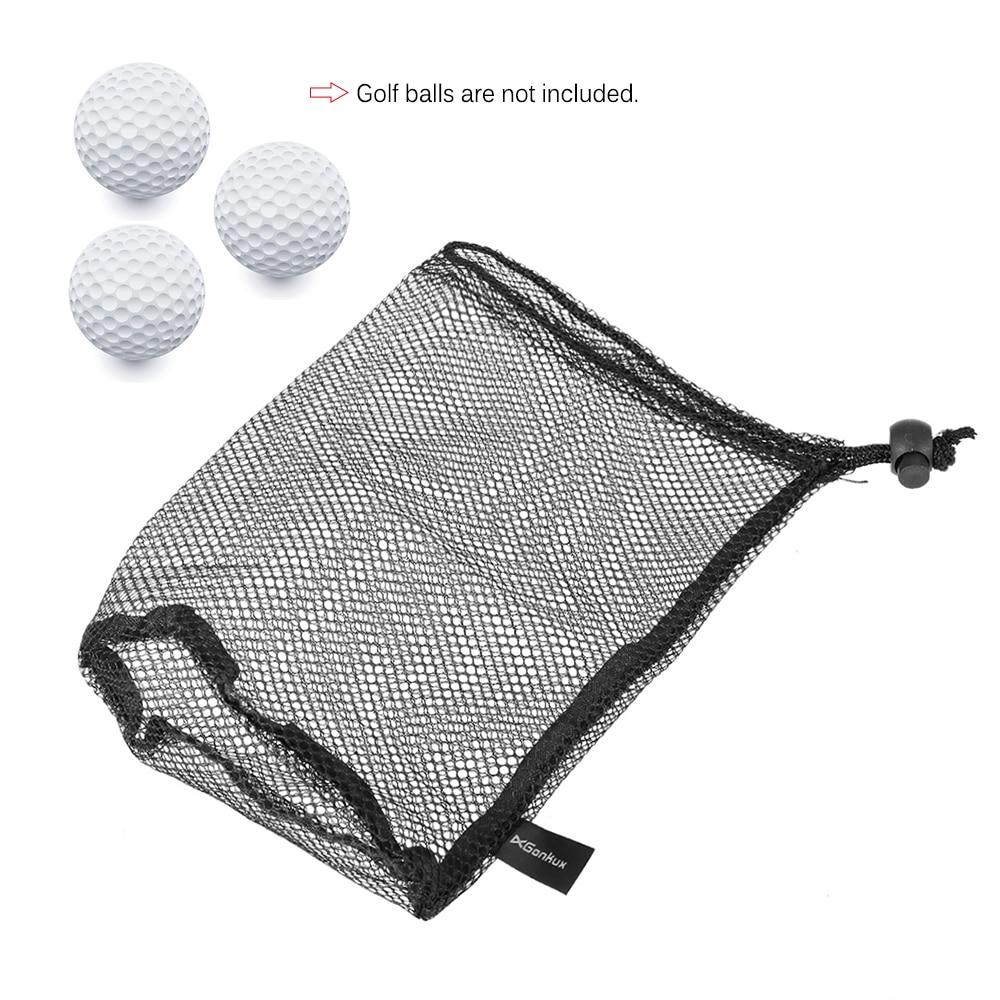 Golf Nylon Drawstring Mesh Net Bag Golf Balls Holder Outdoor Sports Mesh Nets Bag Table Tennis Balls Carrying Holder Storage Bag-in Golf Balls from Sports & Entertainment