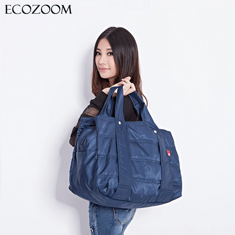 Winter Large Capacity Women Waterproof Nylon Warm Handbag Mummy Casual Tote Fashion Fold Over Bag Femme Bolsos Mother Diaper Bag fashion women handbag large capacity shoulder bag nylon casual tote famous brand purple mummy diaper bags waterproof bolsas