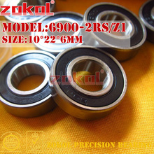 ZOKOL 6900 RS Z1 подшипник 6900 2RS ZZ Z1 6900ZZ 6900zz глубокий шаровой подшипник 10*22*6 мм