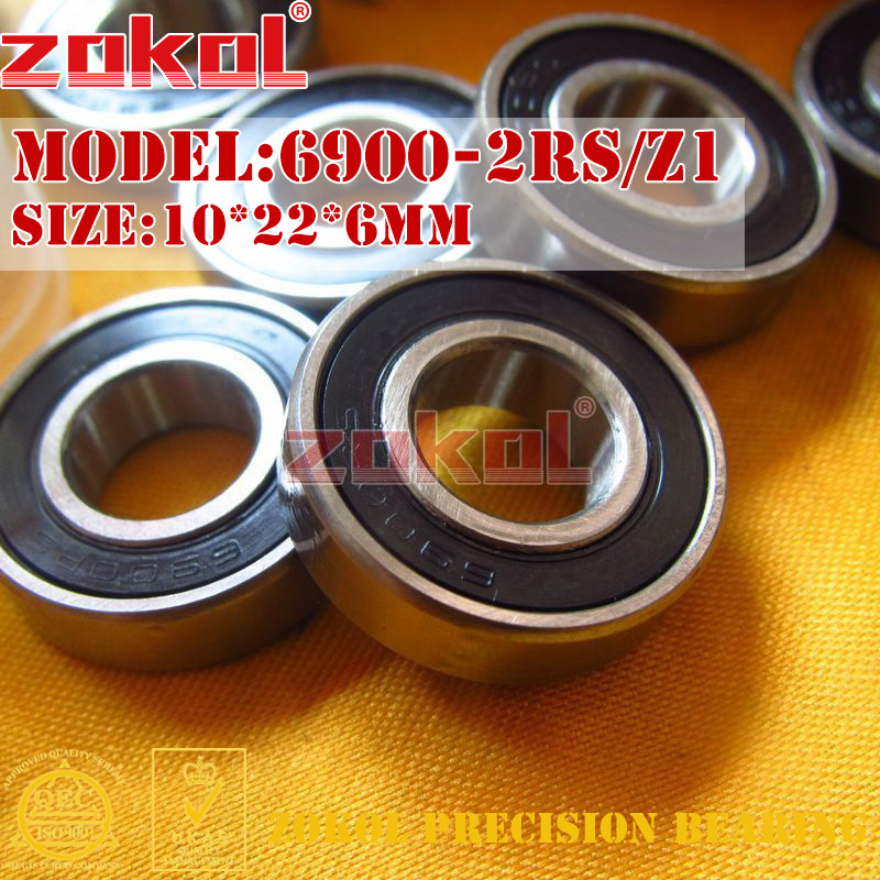 ZOKOL 6900RS Z1 bearing 6900 2RS Z1 1000900-2RS/Z1 Deep Groove ball bearing 10*22*6mm цена