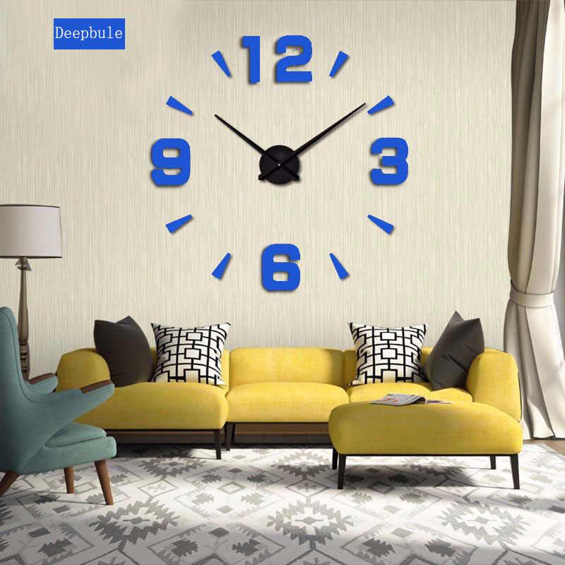 Reloj de pared digital grande 3d simple nuevo 2019, diseño diy, pegatinas para decoración del hogar, reloj de pared envío gratis