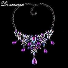 Dvacaman Fashion Luxury Bohemian Wedding Collar Choker Necklace Pendants Women Crystal Statement Necklace Jewelry Charms 6510