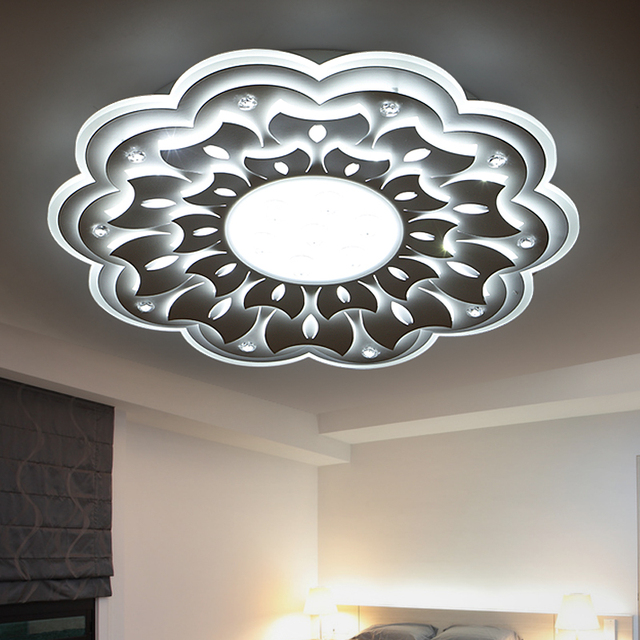 Minimaliste grand led lustre lampe luminaire moderne for Lustre moderne pour salon