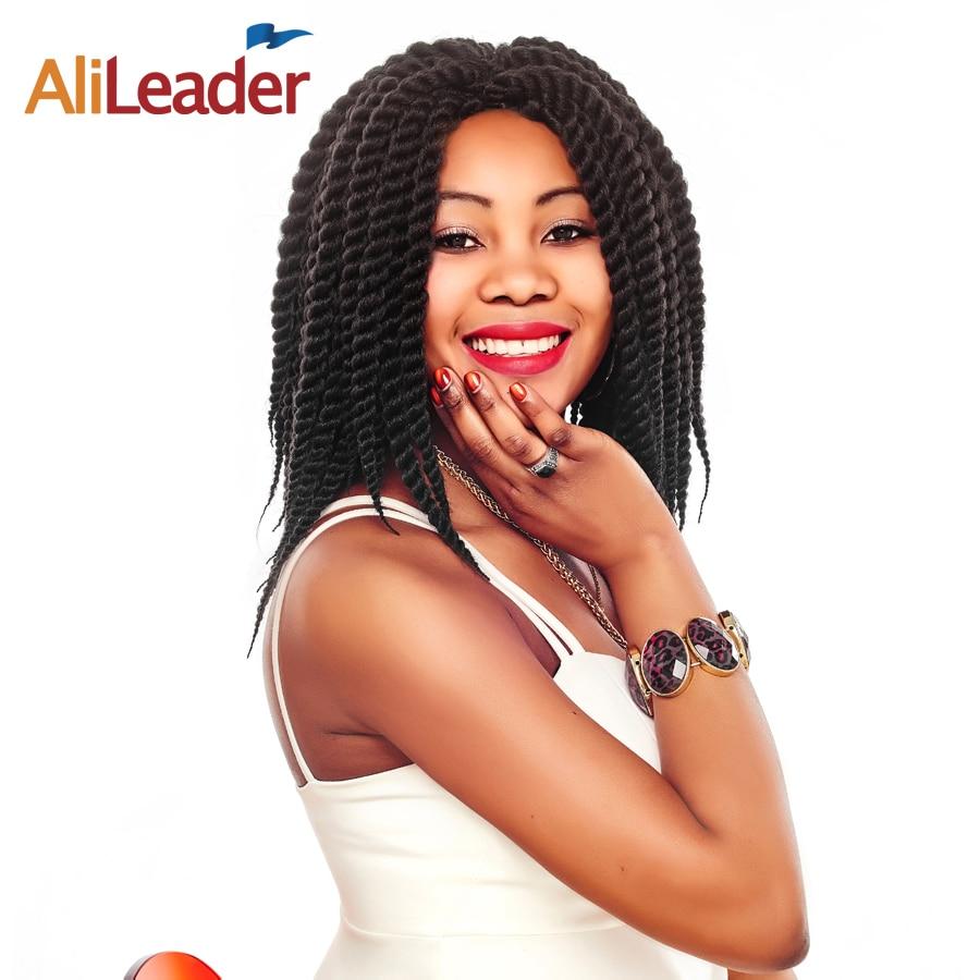 "AliLeader  Crochet Twist Hair Kanekalon Hair Extension, 12 18 22"" Havana Twist Crochet Braid Hair For Black Women & Kids"