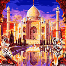 The Taj Mahal Palace Painting By Numbers On Canvas Coloring Cuadros Decoracion Drawing Wall Picture For Living Room