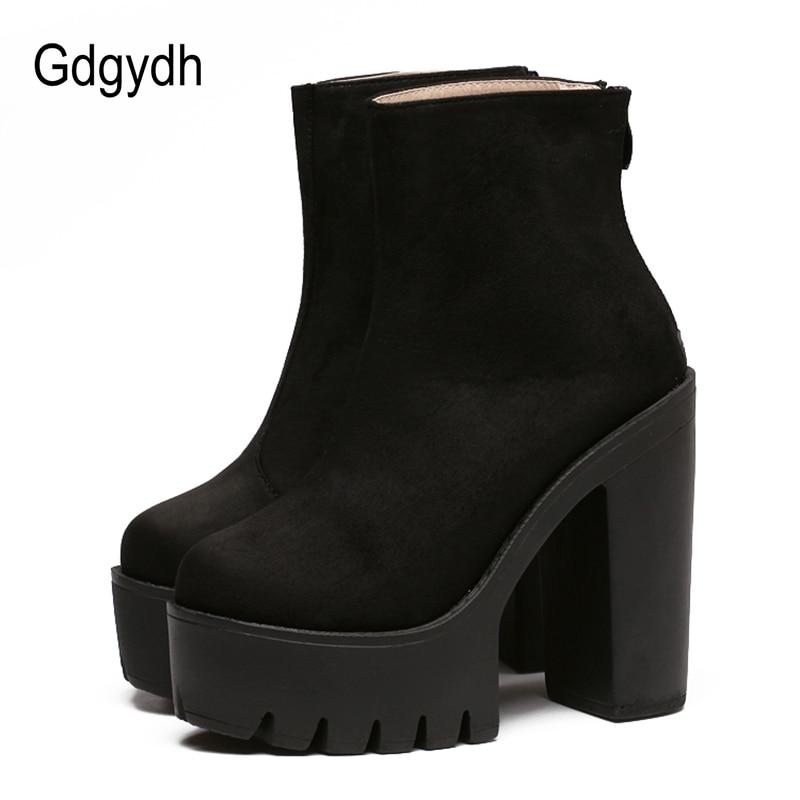 f657d873 Detalle Comentarios Preguntas sobre Gdgydh botas de moda de las mujeres  zapatos de plataforma para otoño de mujer de cuero suave zapatos de tobillo  botas de ...