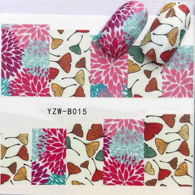 YWK 31 Styles Flower Vintage Nail Art Water Transfer Sticker Decals DIY Tips