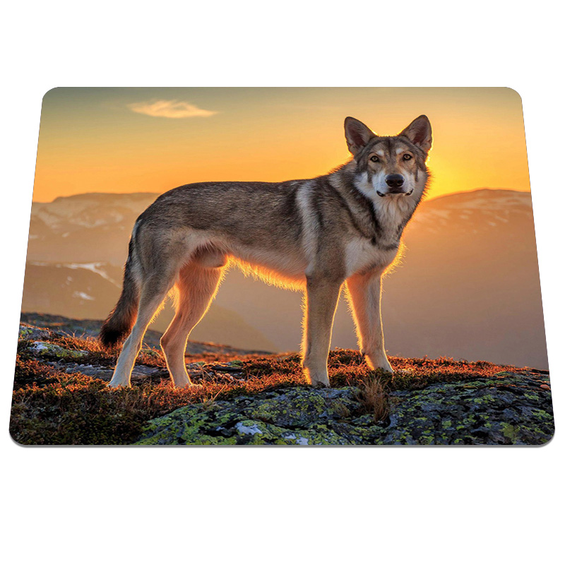 New Fashion design Dog sunset Mouse Pad Background Durable Gaming Notebook Computer Mouse Mat Soft Silicone Pads