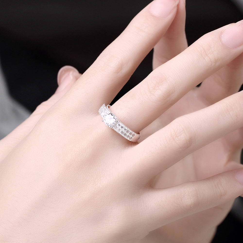 Trendy ladies\' jewelry cz rings for women wedding engagement with ...