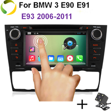HD 1024*600 Quad Core 4 Android 4.4 Car DVD Player For BMW E90 E91 E92 E93 3 Series 3G WIFI Radio Video GPS Navigation BT system