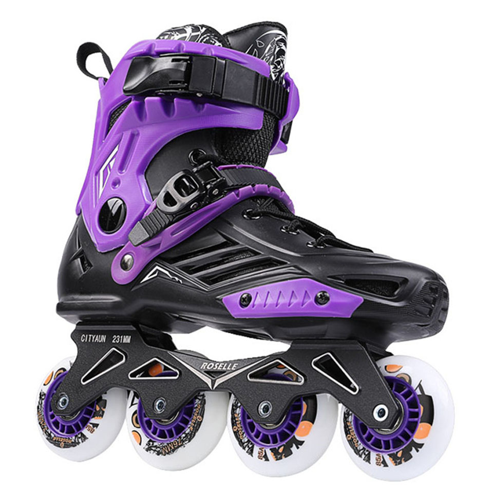 RS6 Roselle Patins à roues alignées Slalom professionnel chaussures de patinage à roulettes adultes Patins de Skate gratuits coulissants taille 35-46 bon comme SEBA