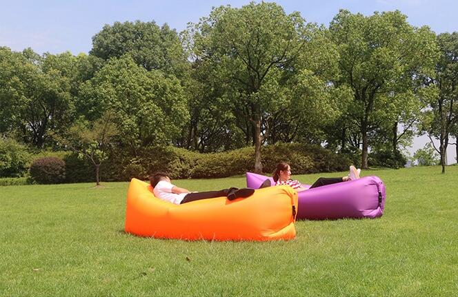 European Style Regional And Fabric Material Inflatable Air Bean Bag Orange Self Inflated Instanly Sofa Beanbag In Garden Sofas From Furniture On