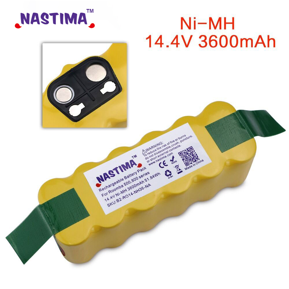 NASTIMA 3600mAh Batteria Per IRobot Roomba 500 600 700 800 900 Serie Aspirapolvere IRobot Roomba 600 620 650 700 770 780 800