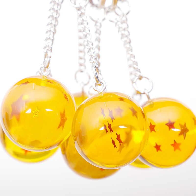 7 yıldız topları 2.7cm PVC kolye yıldız dragon topu Z rakamlar oyuncaklar anahtarlık Anime dragon topu Z anahtarlık karikatür hayranları koleksiyonu