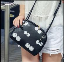 korean new collection teenage cartoon print big eyes shoulder bag shell cute young girls messenger bag across shoulder bag