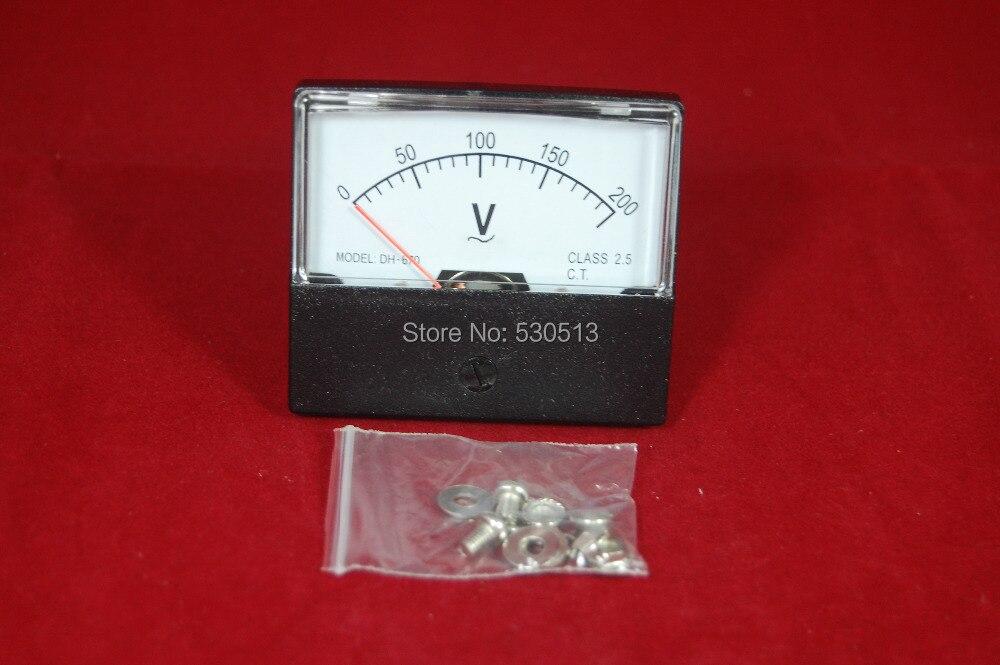 AC 0-200V Analog Voltmeter Panel AMP Voltage Meter  670 60*70MM 200V  AC Directly Connect