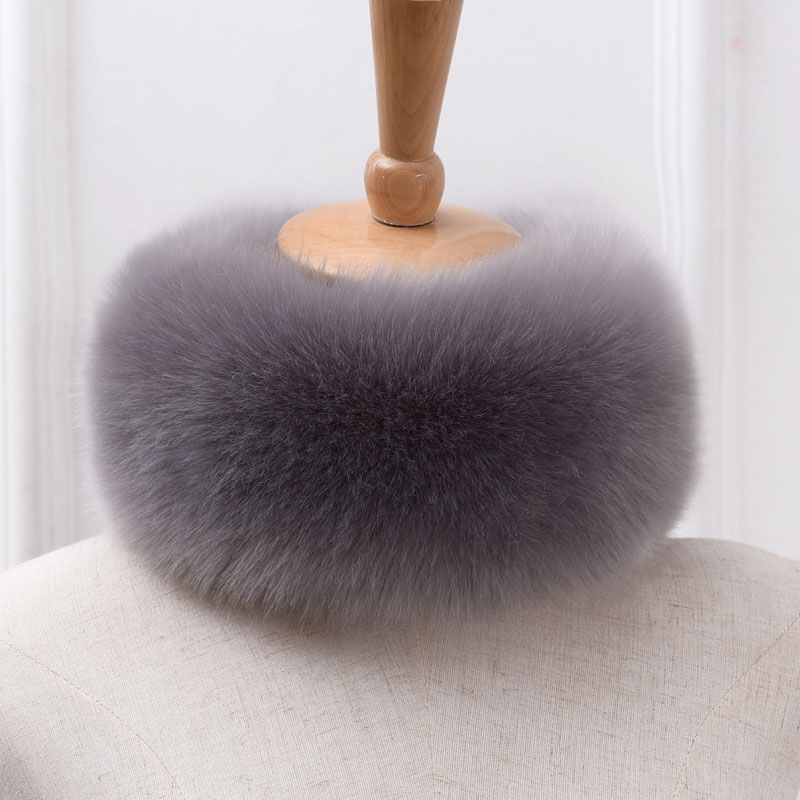>2020 New Winter Top Fashion Solid <font><b>Scarf</b></font> Women Faux Fox Fur <font><b>Collar</b></font> Ring <font><b>Scarves</b></font> Rabbit Raccoon <font><b>Article</b></font> Fake Warm <font><b>Scarves</b></font> Shawls