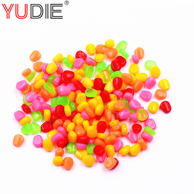 50Pcs Soft Lures Sweet Artificial Corn High Quality Fishing Lure Bait 1cm 0.4g For Glass Carp Fishing Use Food Hook Fish Tools