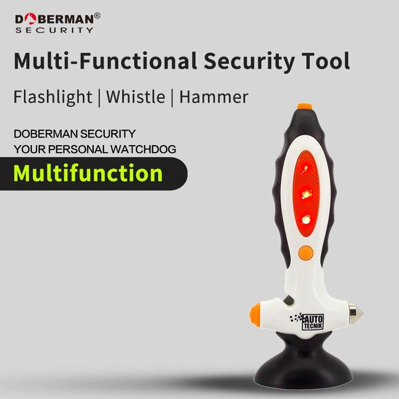 все цены на Doberman Security Multifunction Security Tool Car Escape Tools Glass Breaker Seat Belt Rescue Hammer Emergency Safety Car Tool онлайн