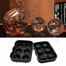 Ледяные шарики производитель круглая Сфера лоток кубик прессформы шарик виски коктейли силиконовые