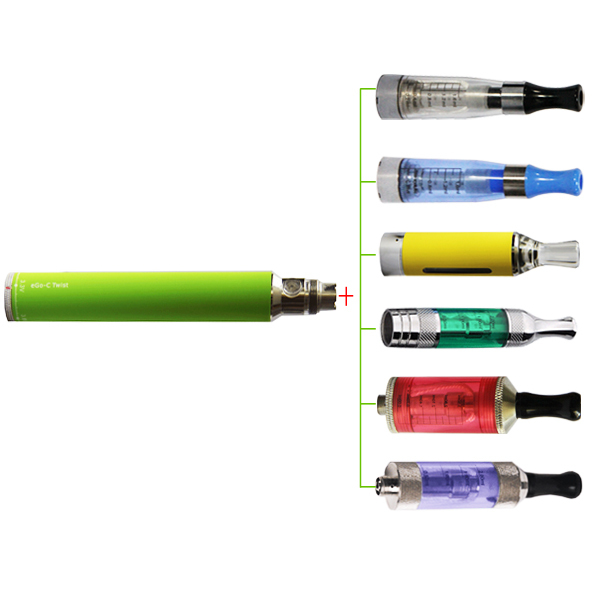 Top eGo-C Twist Battery 650/900/1100/1300mAh Electronic Cigarette 3.2~4.8V Ego C eCig Vape for evod ego CE5 ce4 H2 Atomizers Kit 1